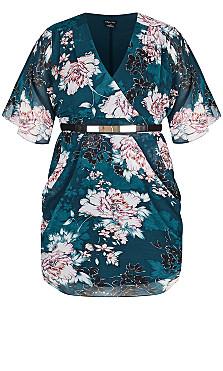Jade Blossom Dress - jade
