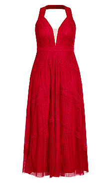 Divine Whimsy Maxi Dress - red