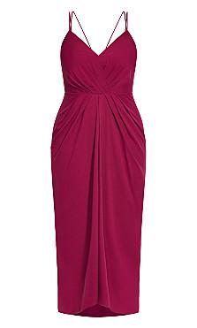 Luciana Maxi Dress - fuchsia