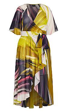 Shock Wave Maxi Dress - ivory