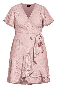Sweet Love Lace Dress - dusty rose