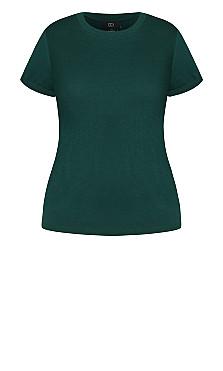 Basic Longline Tee - emerald