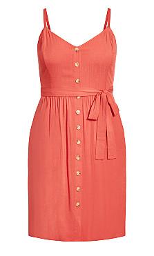 Date Day Dress - tangerine