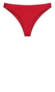 Daisy Bikini Pant  - red cherry