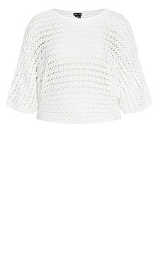 Cool Crochet Top - ivory