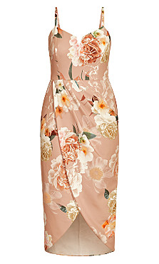Flirtation Floral Dress - blush