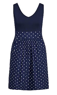 Simply Sweet Dress - navy
