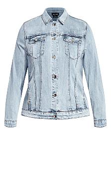 Denim Longline Jacket - denim