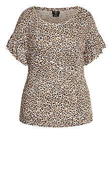Frill Animal Top - animal