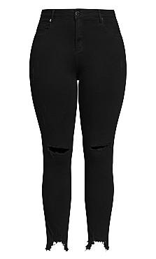 Harley Eclipse Jean - black