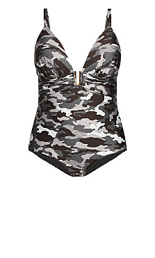 Ingrid Print 1 Piece - black camo