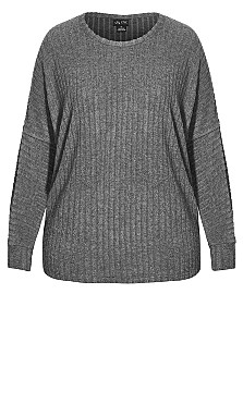 Ella Top - grey marle