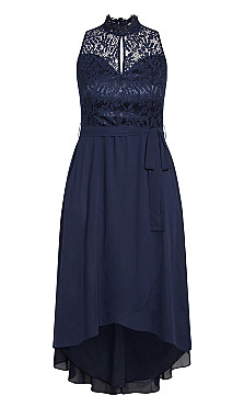 Hi Lo Lover Dress - navy