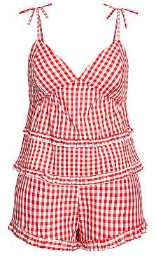Ashleigh PJ Set - red