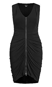 Sexy Drape Dress - black
