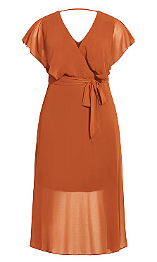 Softly Tied Dress - ginger