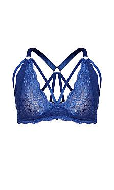 Sophie Strappy Bralette - blue