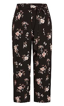 Imperial Floral Pant - black