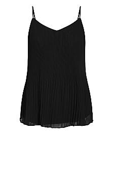 Pleated Swing Top - black