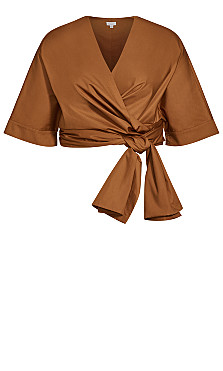 All Wrapped Jacket - butterscotch