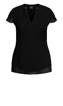Complete Pleat Top - black