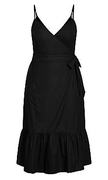 Sweet Tie Dress - black