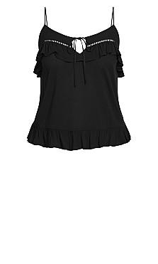 Sweetly Ruffled Top - black