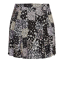 Spring Daisy Skirt - black