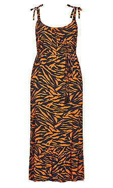 Serengeti Maxi Dress - tiger print