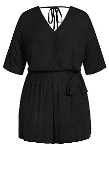 Hot Daze Playsuit - black