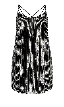 Stripy Deep Sea Dress - black