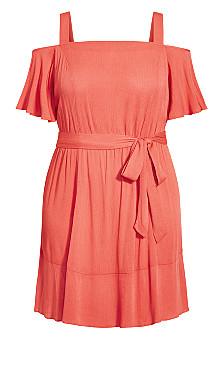 Paradise Dress - tangerine