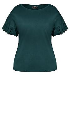 Spirit Sleeve Top - emerald