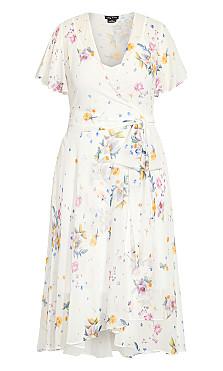 Summer Rose Dress - ivory