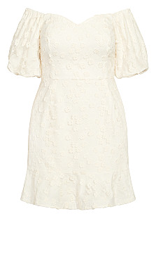 Festive Detail Dress - white