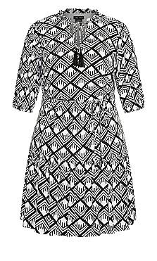 Mini Geo Dress - black