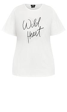 Wild Heart Tee - ivory