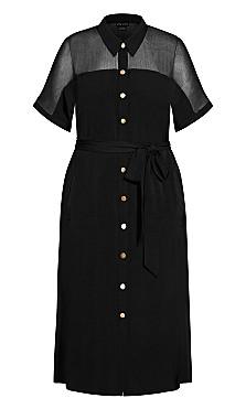 Draw The Line Dress - black
