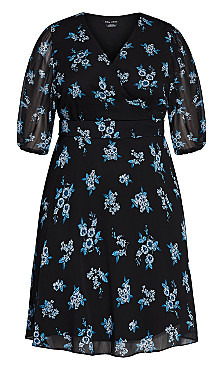 Ditsy Bloom Dress - peacock ditsy