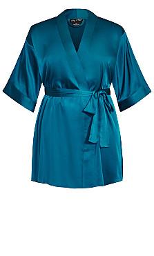Ally Robe - blue teal