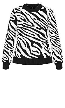 Tiger Love Jumper - black
