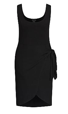 Obsession Rib Dress - black