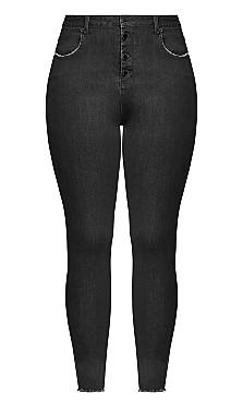 Next Level Corset Jean - black