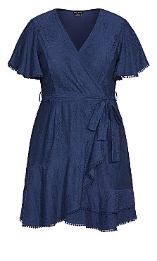 Sweet Love Lace Dress - navy