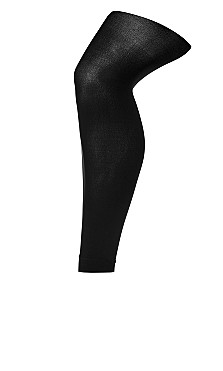 Footless Tights - black