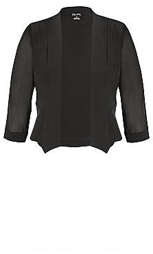 Cropped Blazer Jacket - black