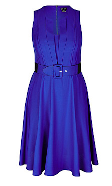 Vintage Veronica Dress - cobalt