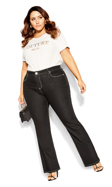 Women's Plus Size CC Regular Bootleg Jean - Black