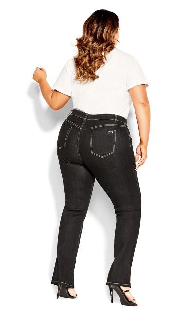 CC Regular Bootleg Jean - black