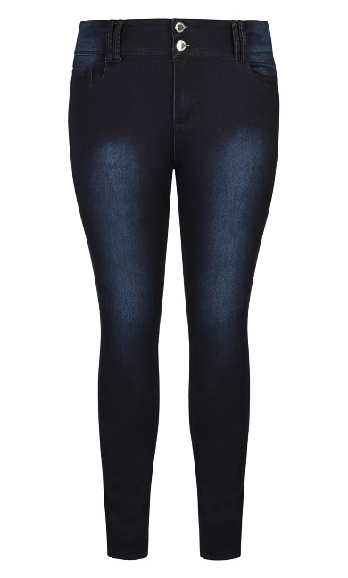 Asha Regular High Rise Skinny Jean - denim